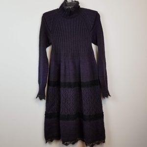 Jean Paul Gaultier purple sweater dress size small